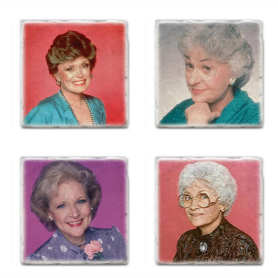 The Golden Girls Marble Coaster Set