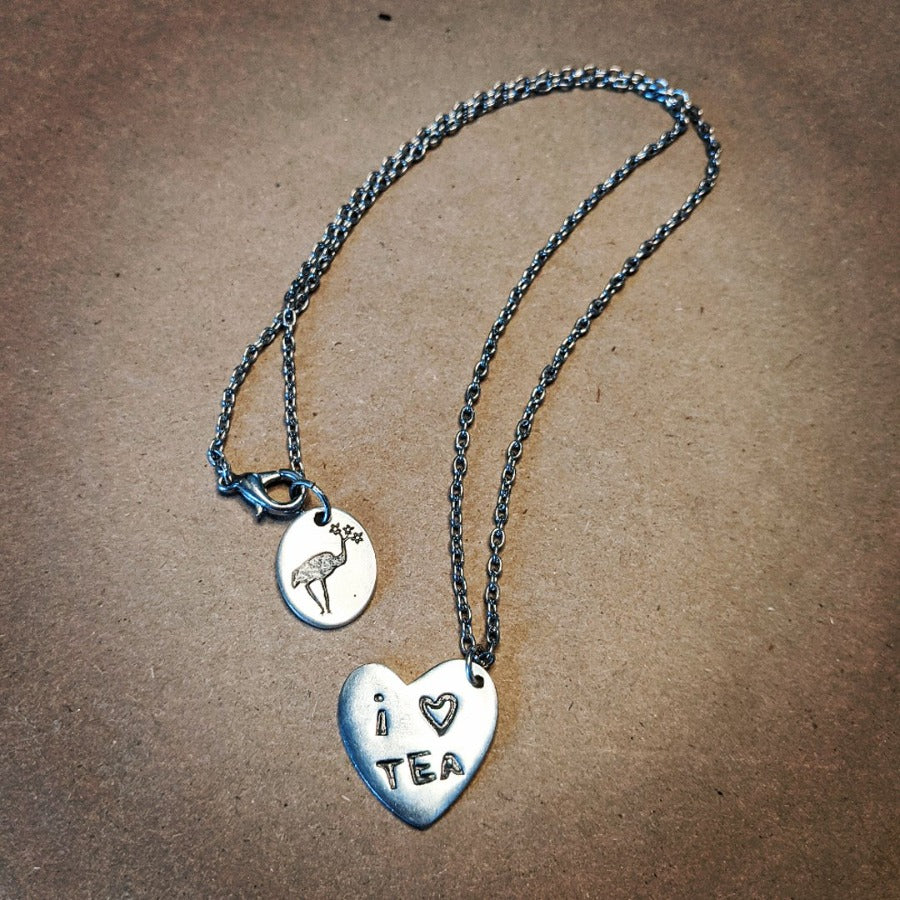 I Heart Tea Necklace