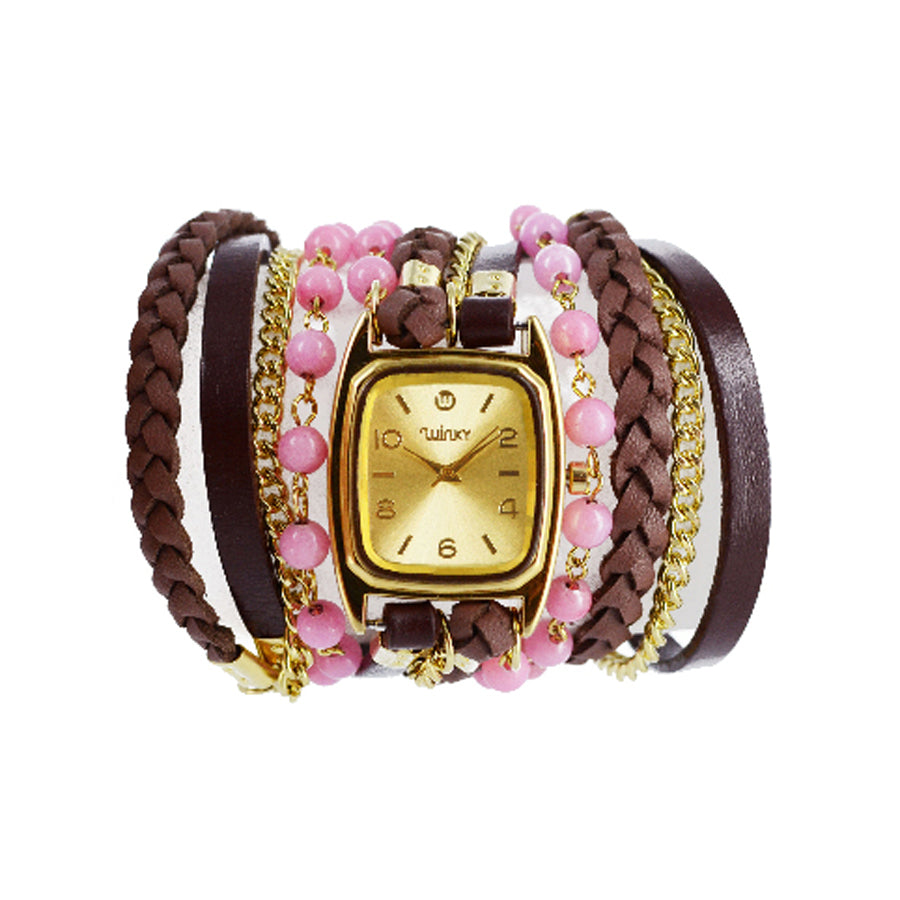 Sweet Dreams Strawberry Shortcake Bracelet Wrap Watch