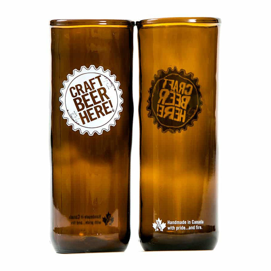Craft Beer Here Upcycled Beer Glass