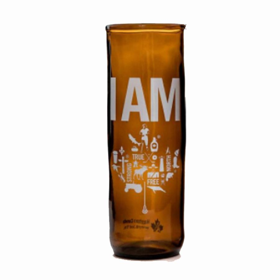 I Am Canadian Upcycled Beer Glass
