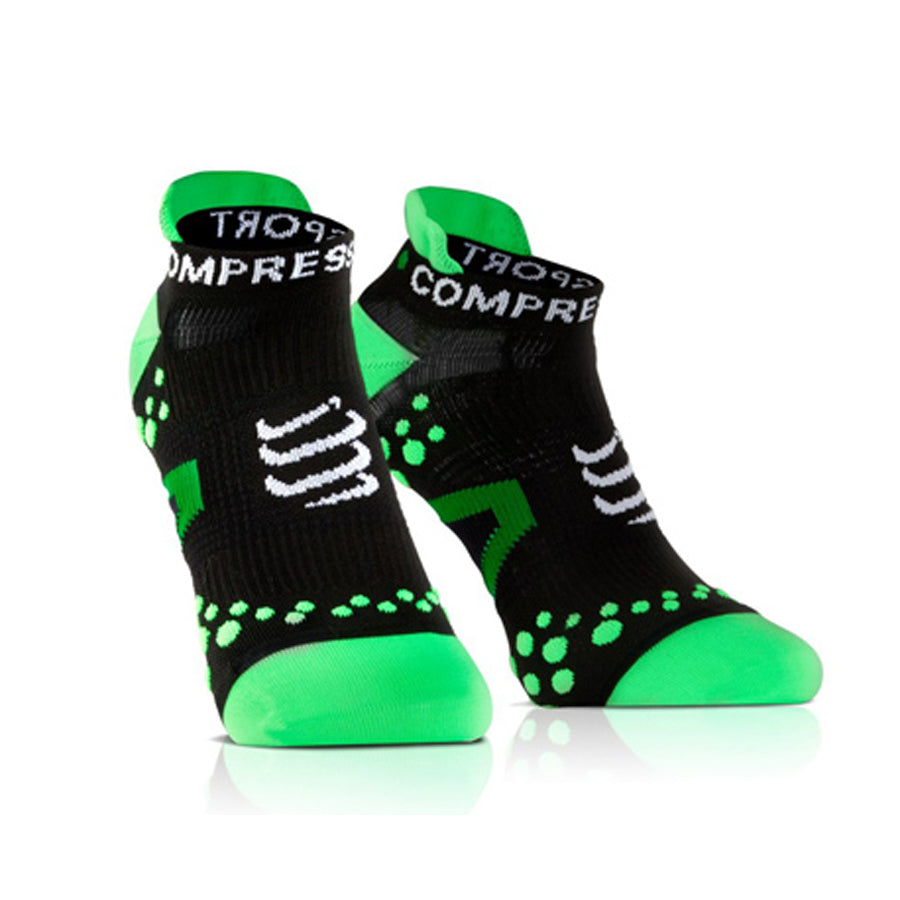 Pro Racing Compression Socks - Run Low V 2.1 -  Ultra Low Cut Green