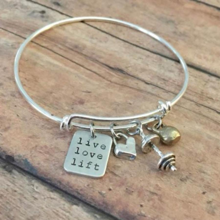 Live Love & Lift with Heart Bracelet