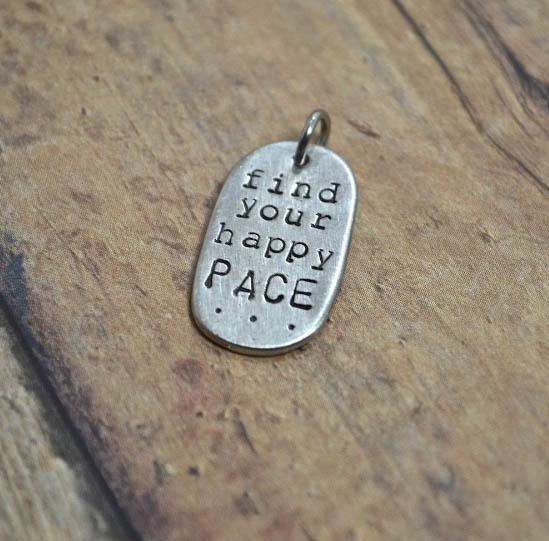 Find Your Happy Pace Charm