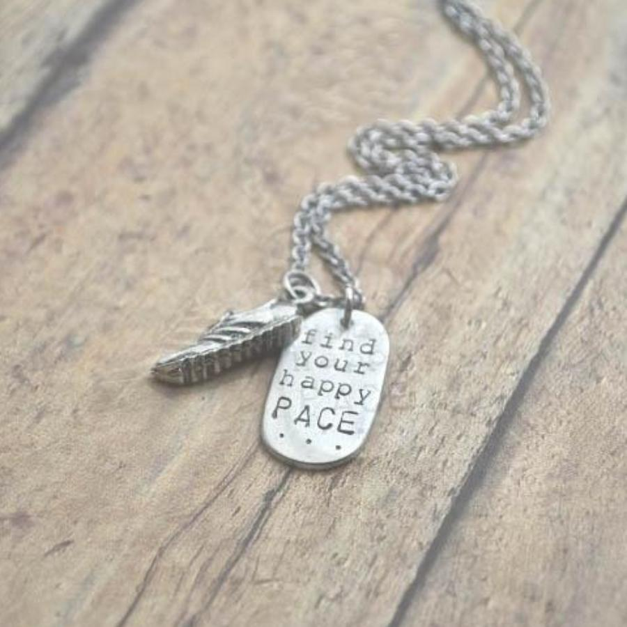 Find Your Happy Pace with a Running Shoe Necklace