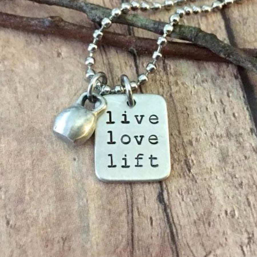 Live Love Lift Mini KettleBell Necklace