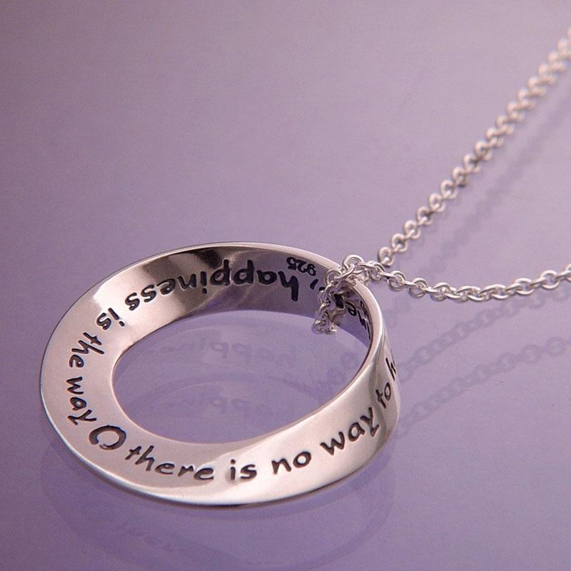 Happiness Is The Way Necklace