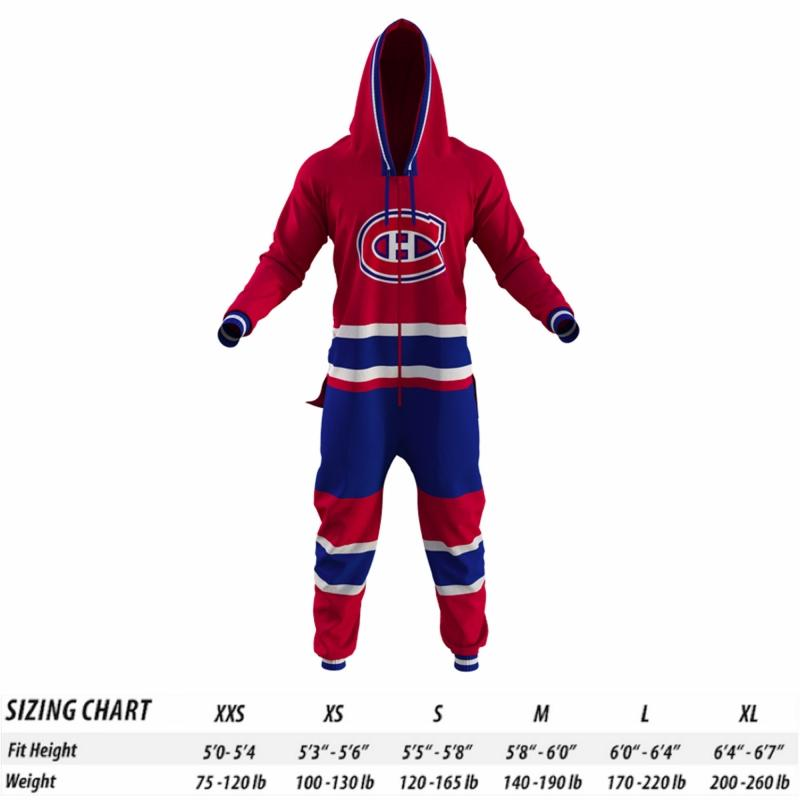Montreal Canadiens Hockey Sockey NHL Onesie