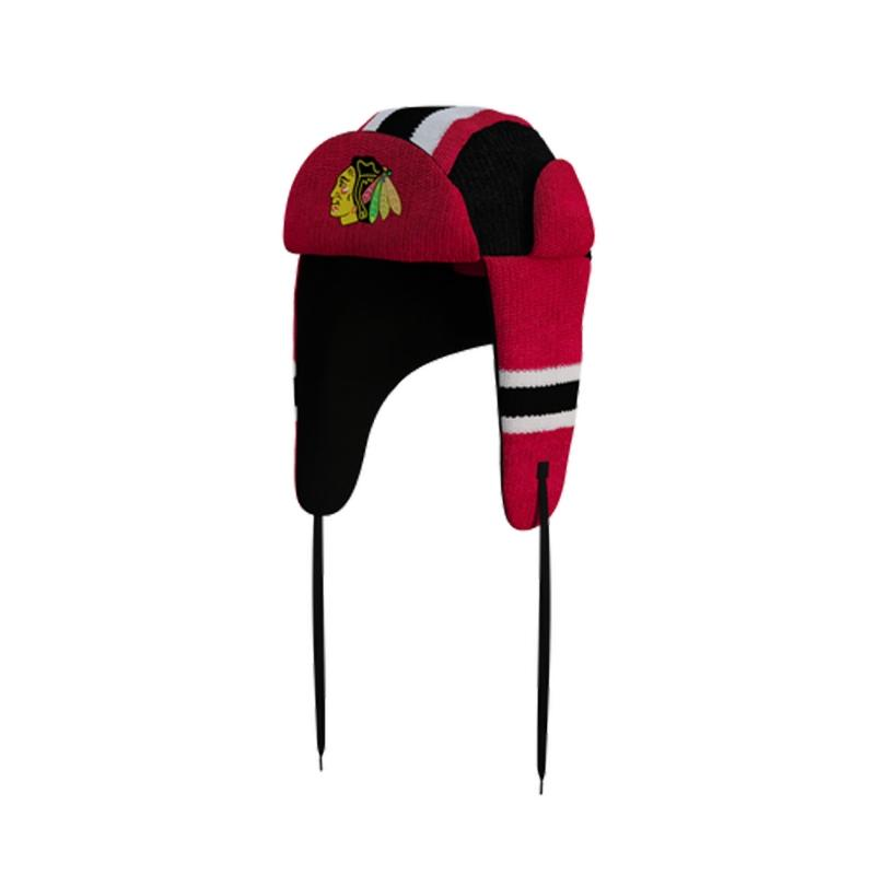 Chicago Blackhawks Hockey Sockey Reversible NHL Trapper Hat