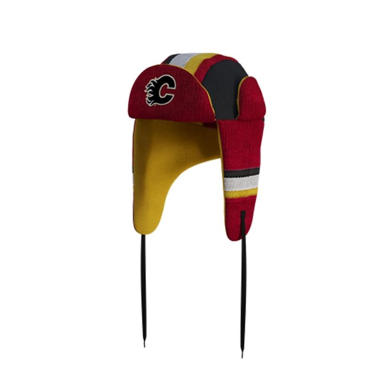 Calgary Flames Hockey Sockey Reversible NHL Trapper Hat