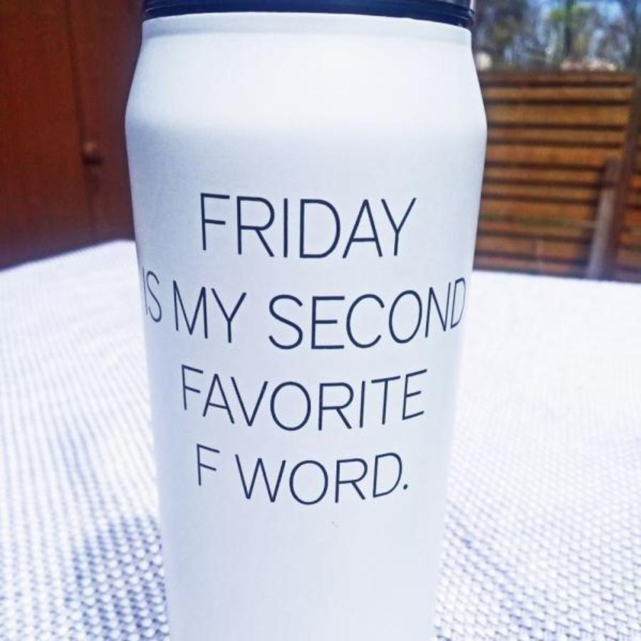 Friday Is My Second Favorite F Word Insulated Water Bottle