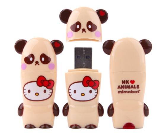 Hello Kitty Loves Animals Panda USB Key