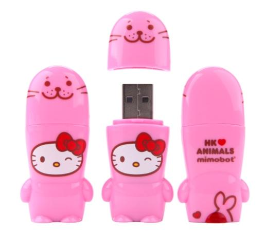 Hello Kitty Loves Animals Seal USB Key