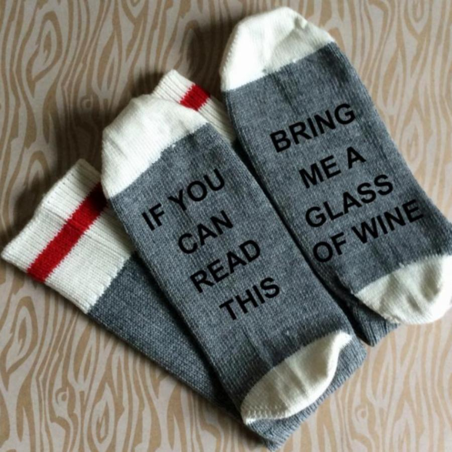 Bring Me A Glass Of Wine Merino Wool Socks