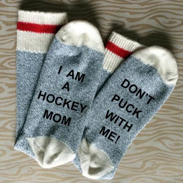 I am a Hockey Mom Don't Puck with Me Cotton Unisex Socks