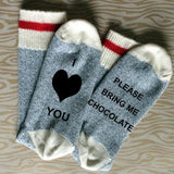 I Love You Bring Me Chocolate Unisex Cotton Socks
