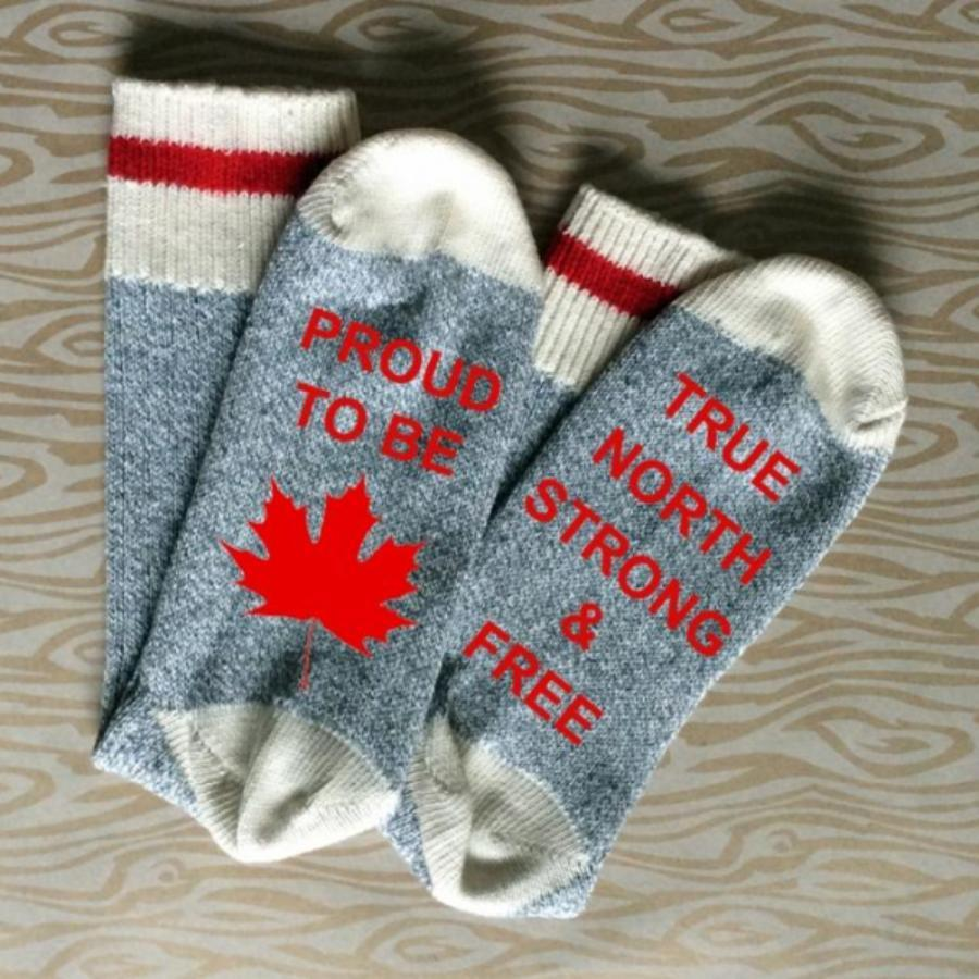 Proud To Be Canadian Unisex Cotton Socks