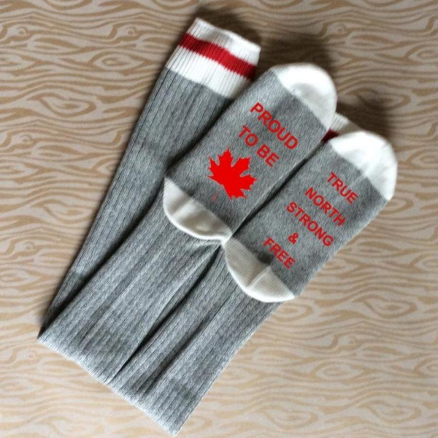 Canada-Socks-Proud-To-Be-Canadian-True-North-Strong-Free-Made-In-Canada-Toronto