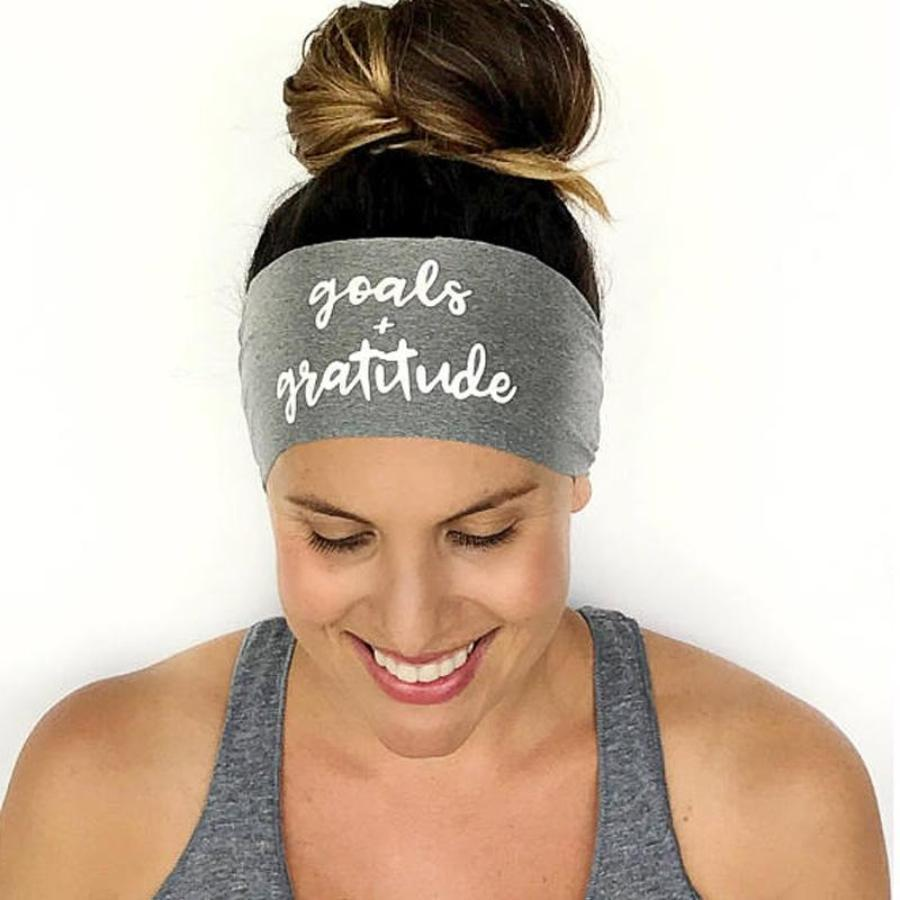 Goals & Gratitude Fitness & Yoga Headband
