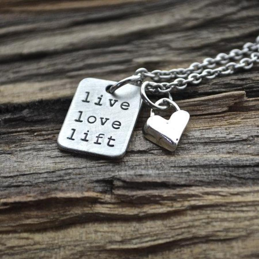 Live Love Lift with Heart Necklace