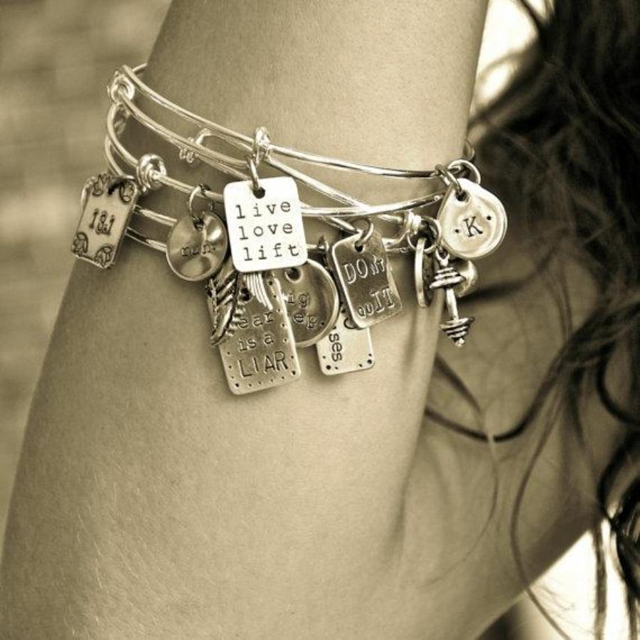 Custom Workout Charm Bracelet