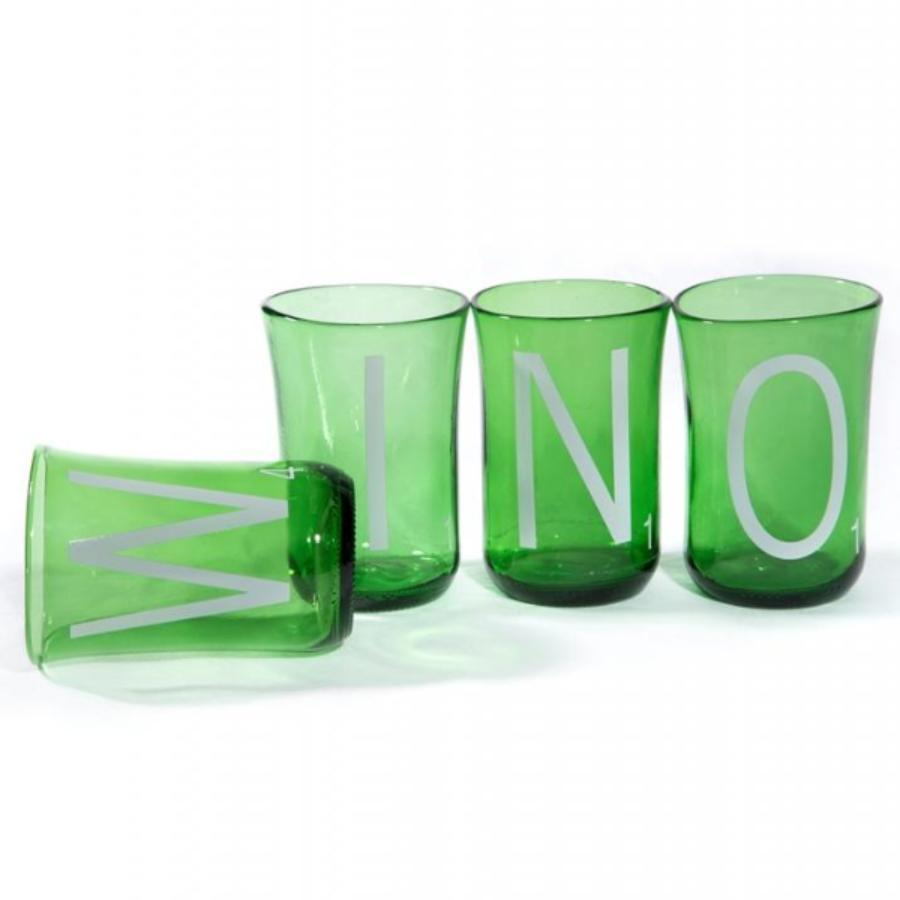 Recycled Glass WINO Wine Tumblers