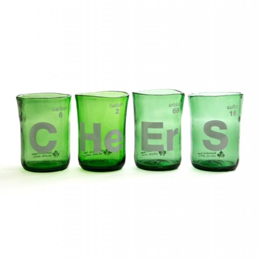 Recycled Glass Cheers Wine Tumblers