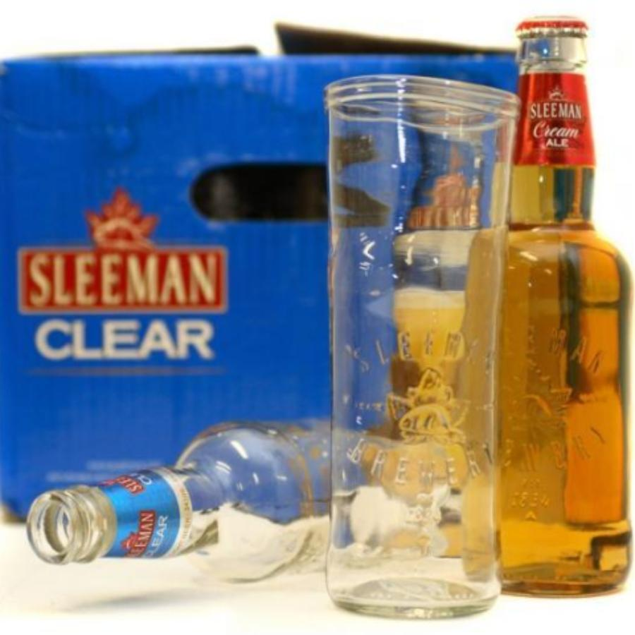 Sleeman Clear Upcycled Beer Glass
