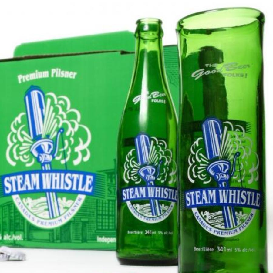 Steam Whistle Upcycled Beer Glass