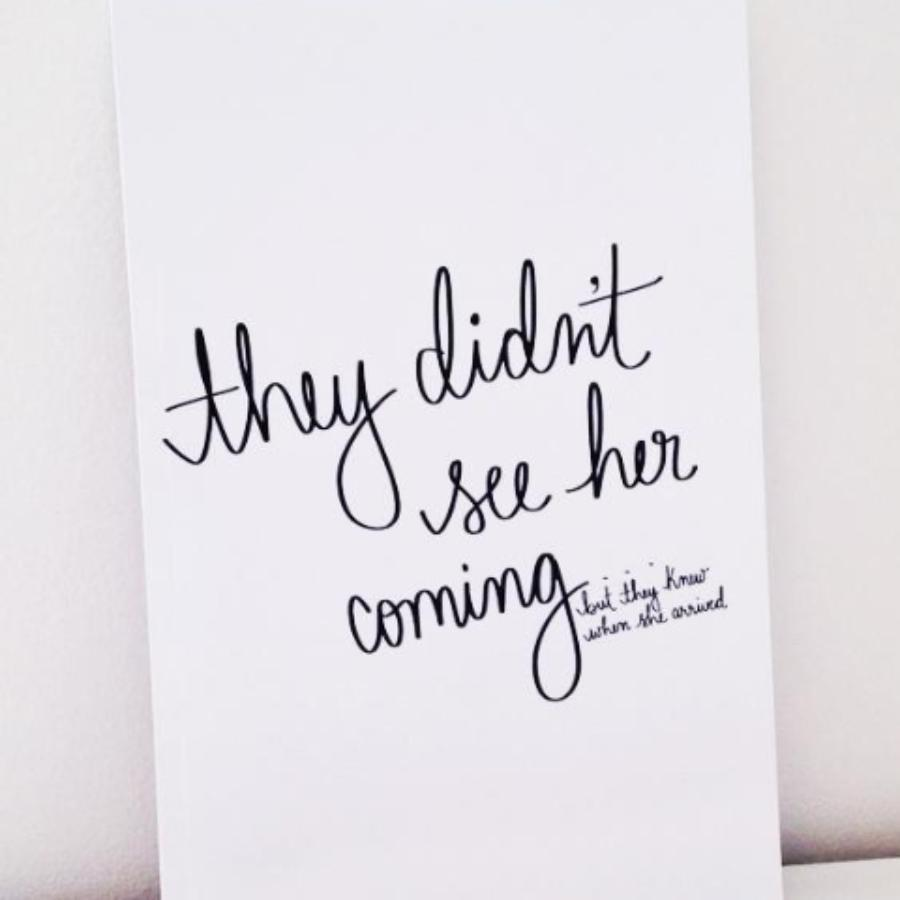 They Didn't See Her Coming Notebook