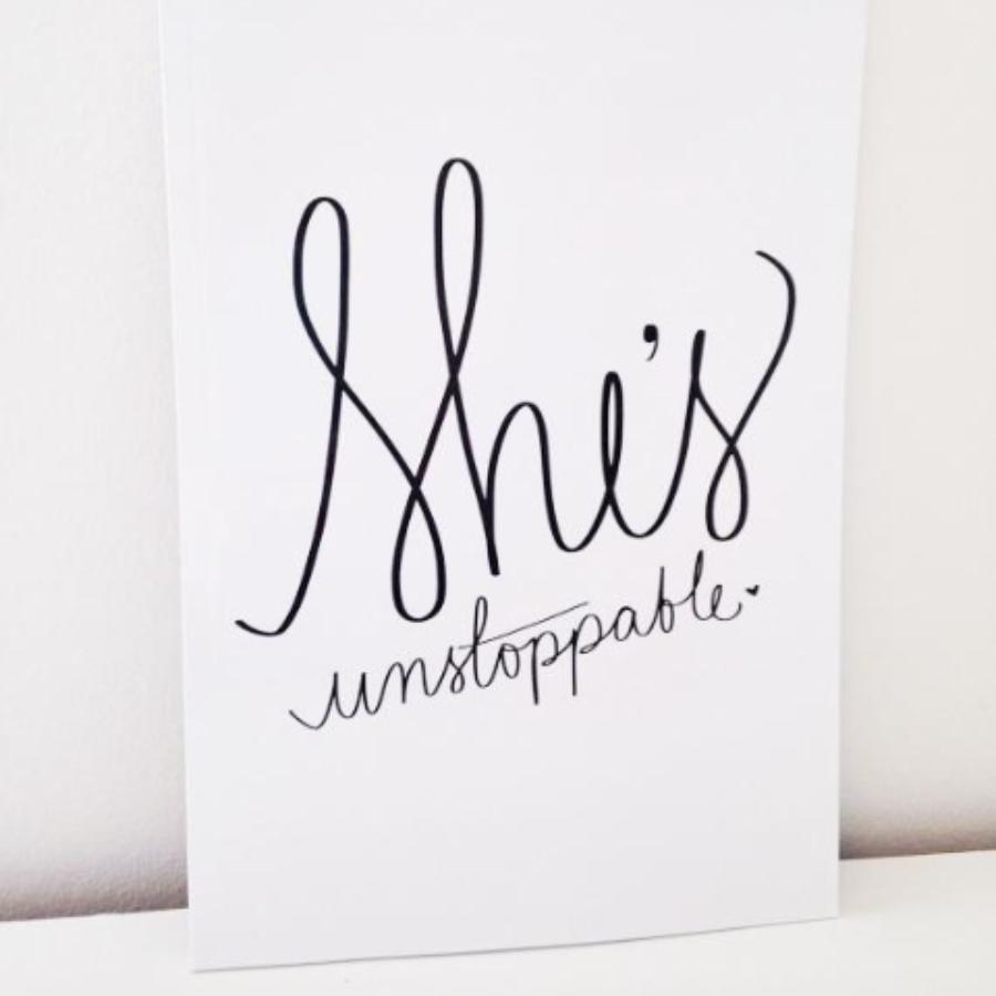 She's Unstoppable Notebook