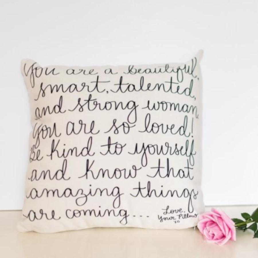 Empowering Message Pillow Cover