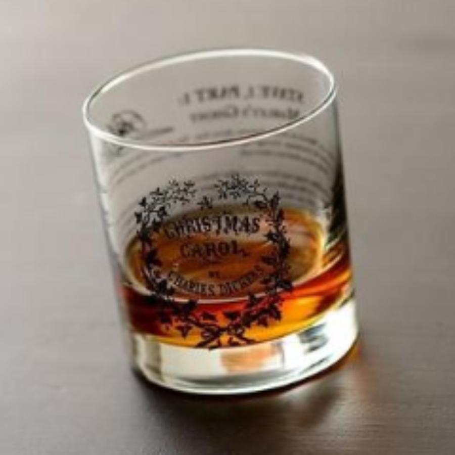 A Christmas Carol - Dickens Rock Glass
