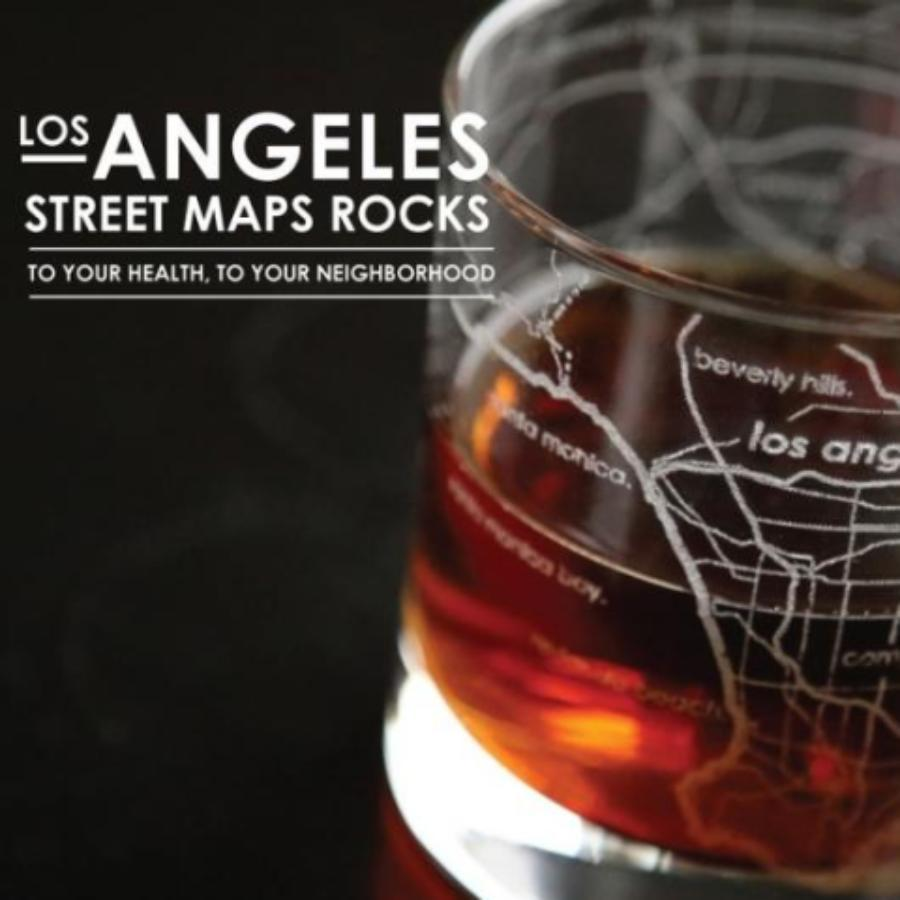 Los Angeles Street Maps Pint Glass