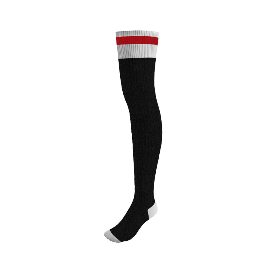 Pook Black Thigh High Socks