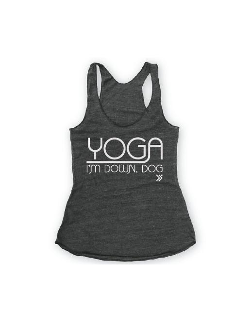 Yoga I am Down Dog Racerback Tank