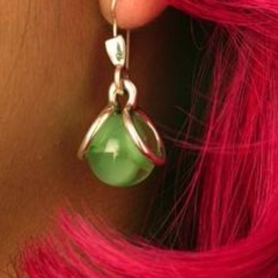 Marble Mod Hook Earrings