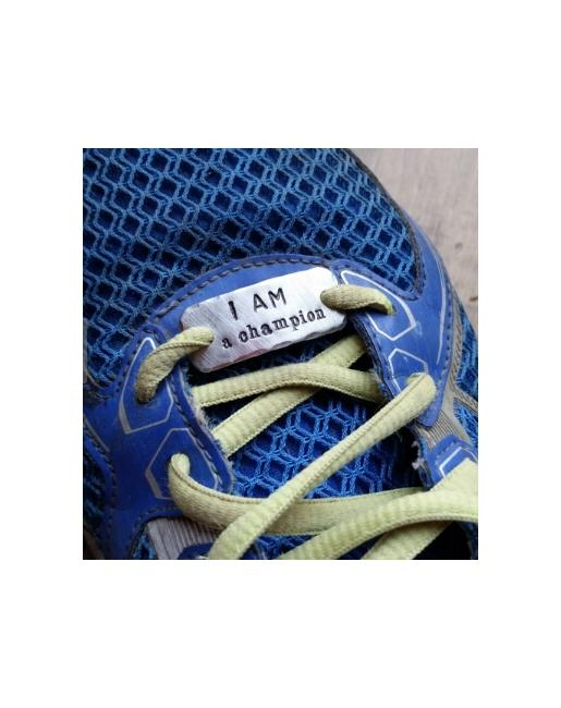 Believe I am a Champion Shoe Lace Tag