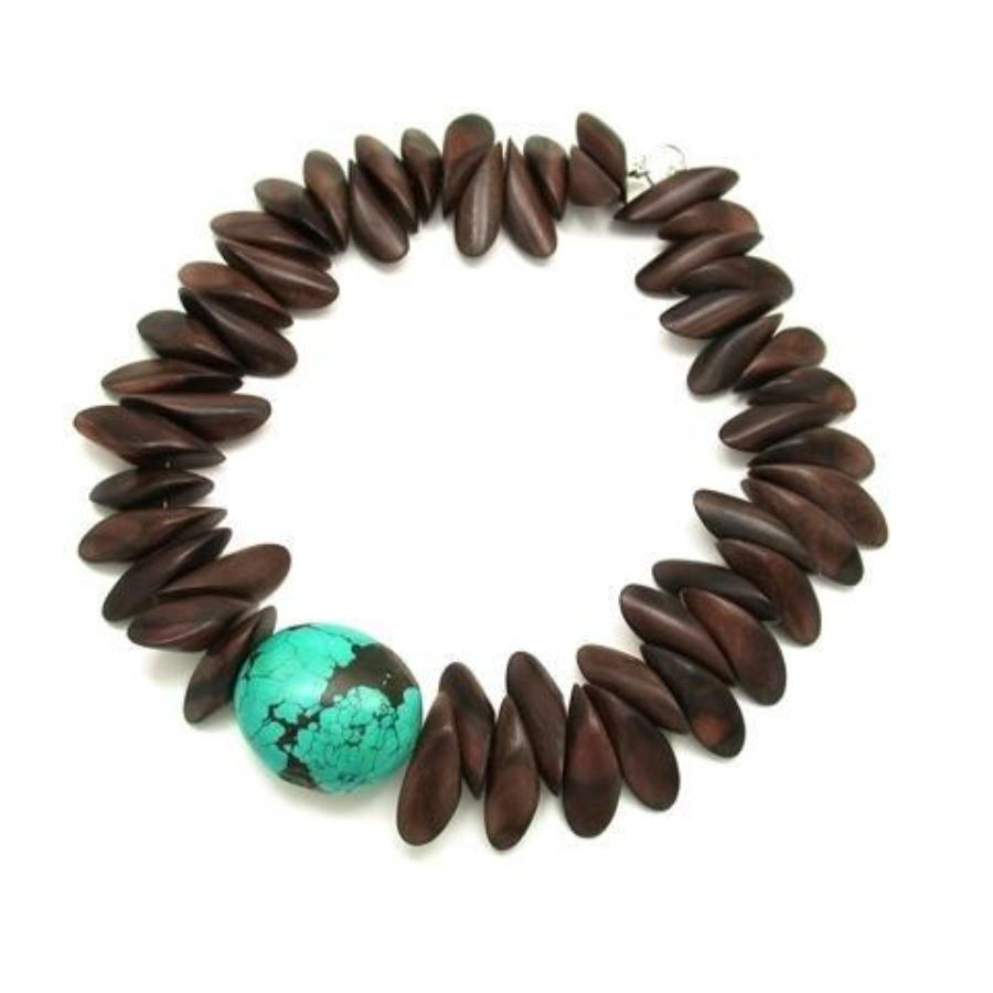 Tiger Ebony Petal With Turquoise