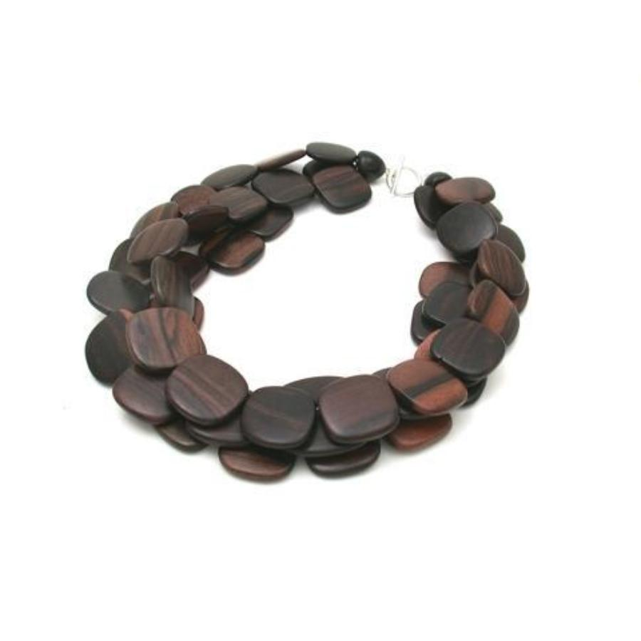 3-Strand Wood Necklace