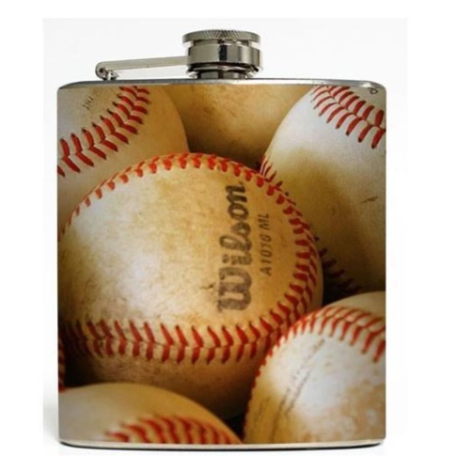 Batter Up Baseball Flask