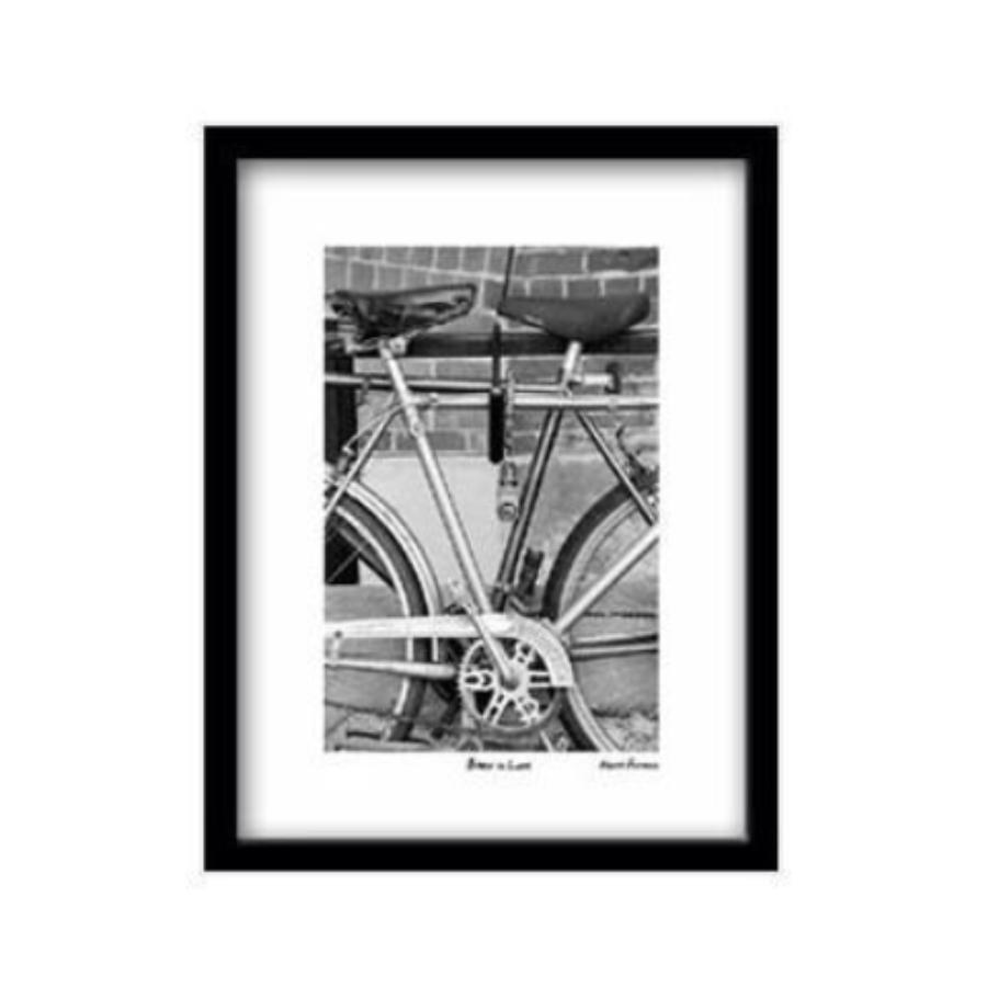 Bikes in Love Framed Print