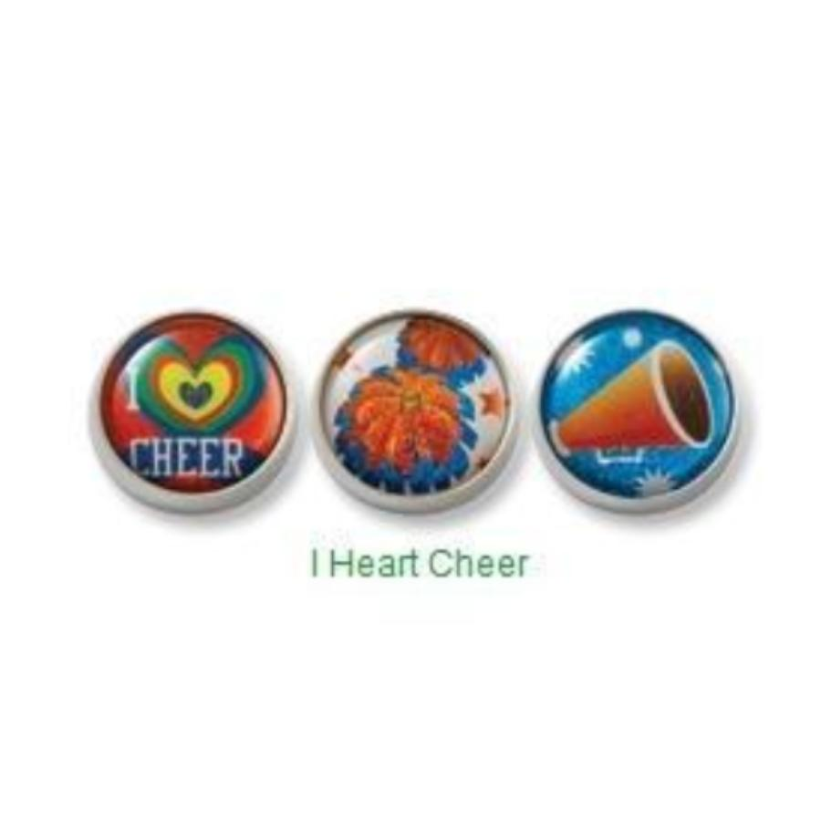 I Heart Cheer Mogo Charm Set