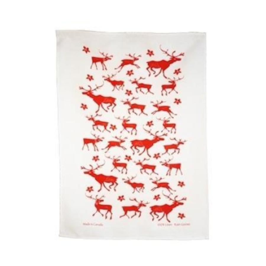Caribou Linen Tea Towel
