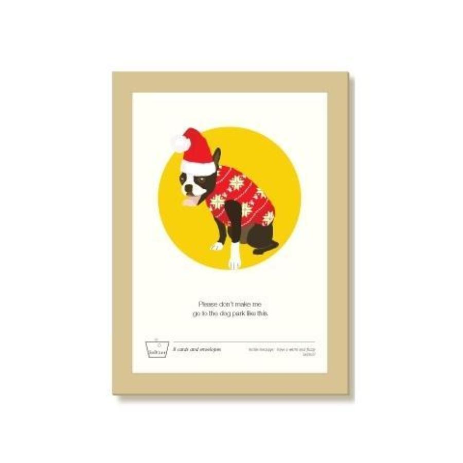 Dog Sweater Holiday Greeting Card