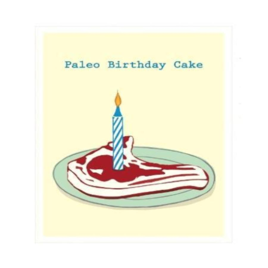 Paleo Birthday Cake Greeting Card