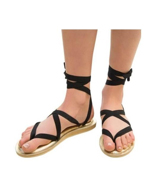 Sseko Ribbon Gold Sandals