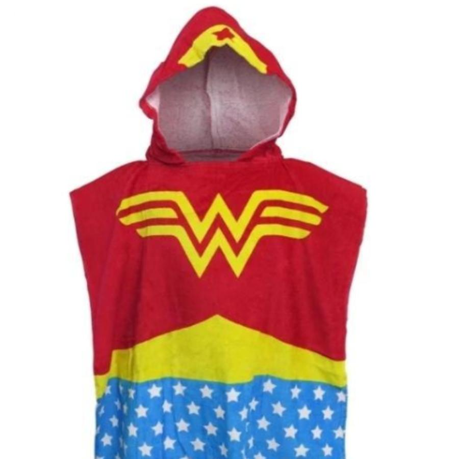 Wonder Woman Kids Towel Poncho