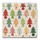 Christmas Tree Wrapping Paper Marble Coaster
