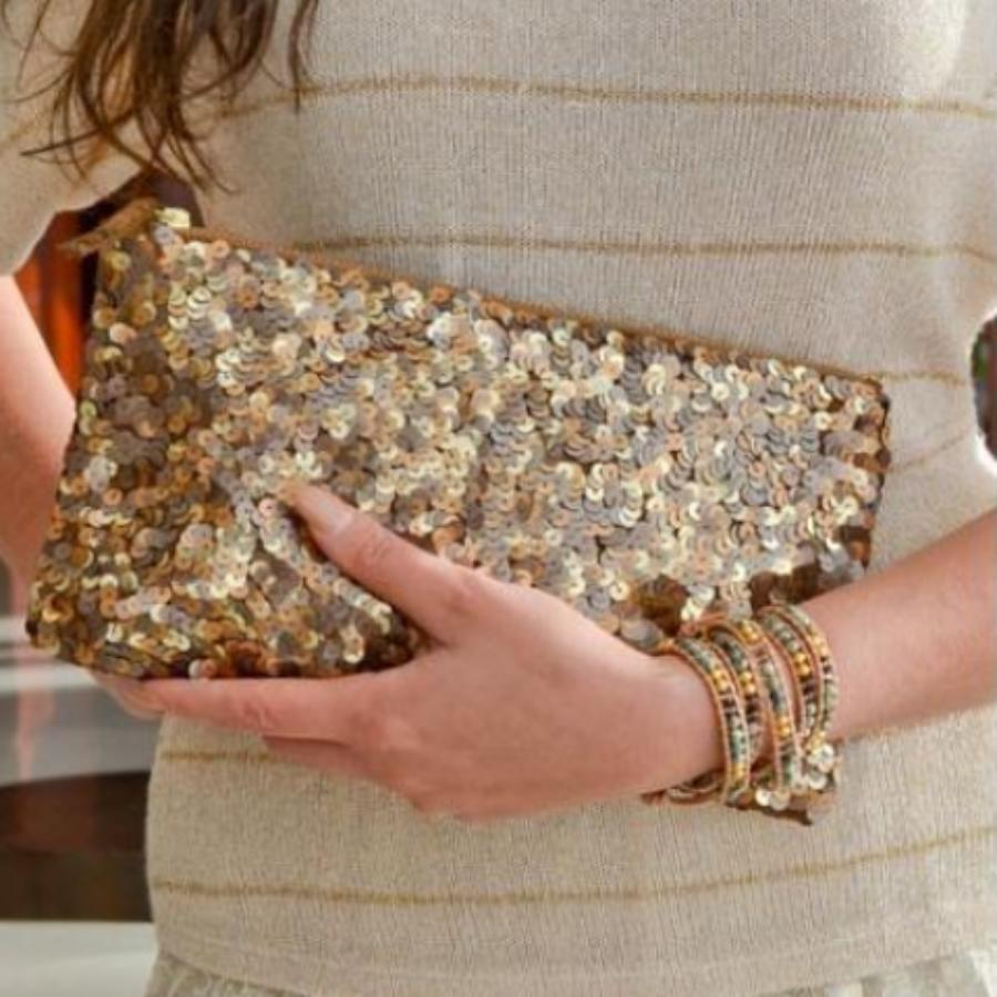 Sparkle Sequin Clutch
